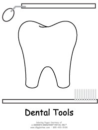 tooth with tools