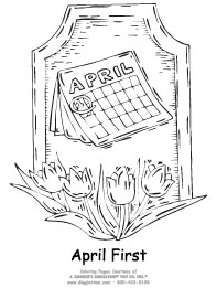 april fools day coloring pages - April Coloring Pages