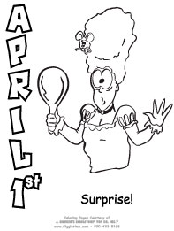 April Fools Day Coloring Pages