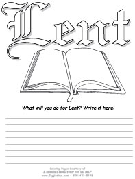 coloring pages for lent - photo#16