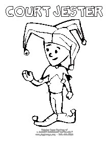 free coloring pages of jesters - photo#15