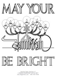 may your hanukkah be bright - Hanukkah Coloring Pages