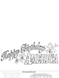 Happy Birthday America - Write Your Own Card