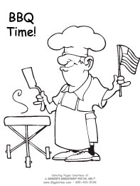 coloring pages bbq patriotic giggletimetoys