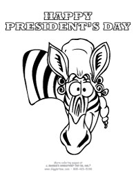 Presidents Day Zebra