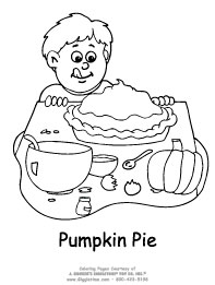 Thanksgiving coloring pages for Pumpkin pie coloring page