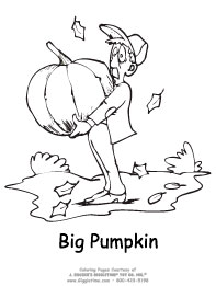 Thanksgiving coloring pages for Large pumpkin coloring page