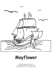 Thanksgiving Coloring Pages Giggletimetoys Com Mayflower Coloring Page