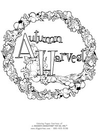 thanksgiving coloring pages: giggletimetoys.com - Harvest Coloring Pages Printables