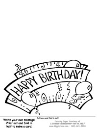 Card - Write Your Own - Birthday Banner
