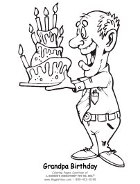 happy birthday coloring pages for grandpa  Coloring Pages Ideas