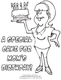 Birthday Coloring Pages Giggletimetoyscom
