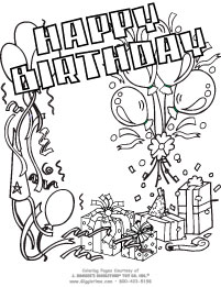 Birthday Coloring Pages Giggletimetoys Com Happy Birthday Coloring Pages