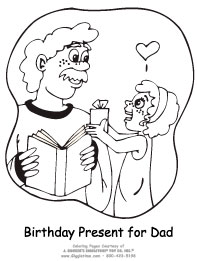 coloring pages for dads birthday - birthday people