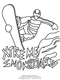 Sports coloring pages for Extreme coloring pages
