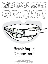 dentist coloring pages