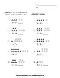 First Grade Math - Adding Shapes